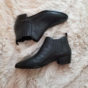 Michael Kors black western ankle boots 11